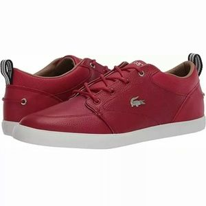 New Lacoste red leather shoes / sneakers